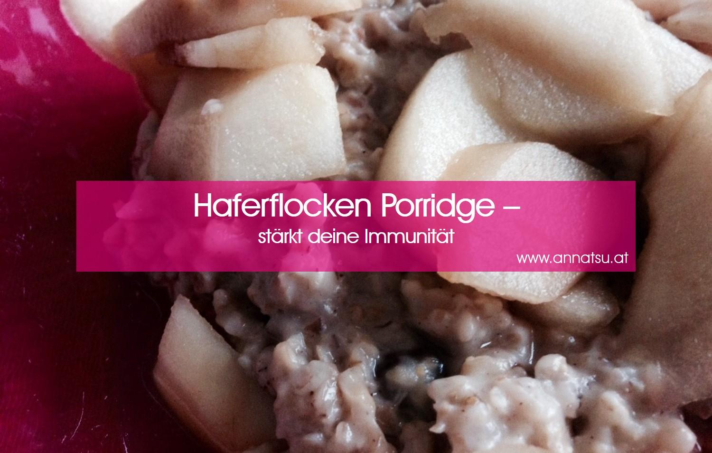 TCM Rezept Haferflocken Porridge - TCM Ernährungsberatung - Shiatsu - Anna Reschreiter