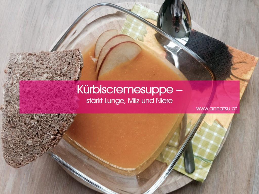 Kürbiscremesuppe - TCM Ernährungsberatung - Shiatsu - Anna Reschreiter