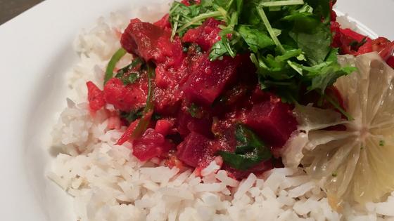 Rezept - Rote Rüben Curry - TCM Ernährung - 5 Elemente Küche - TCM Ernährungsberatung Wien - Anna Reschreiter