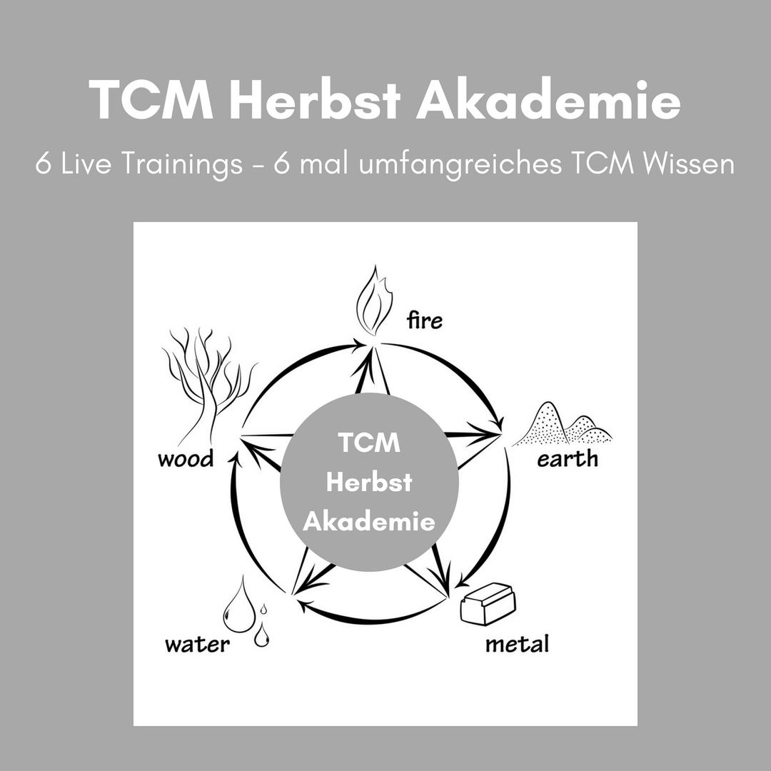 TCM Herbst Akademie - TCM Ernährung - 5 Elemente Küche - TCM Ernährungsberatung Wien - Anna Reschreiter