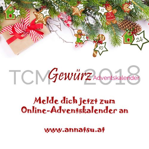 TCM Gewürz Adventskalender 2018 - TCM Ernährung - 5 Elemente Küche - TCM Ernährungsberatung Wien - Anna Reschreiter