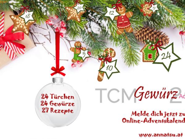 TCM Gewürz Adventskalender 2018 - TCM Ernährung - 5 Elemente Küche - TCM Ernährungsberatung Wien - Anna Reschreiter - fb WA