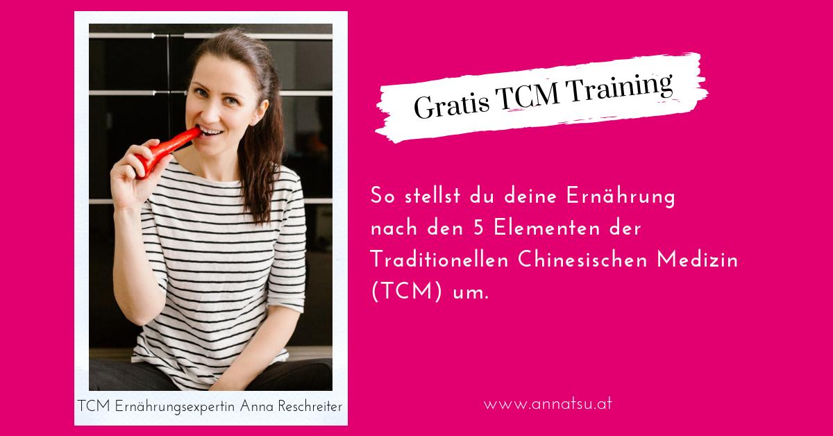 Webinar - So stellst du deine Ernährung nach den 5 Elementen der TCM um - TCM Ernährung - 5 Elemente Küche - TCM Ernährungsberatung Wien - Anna Reschreiter - fb Ad