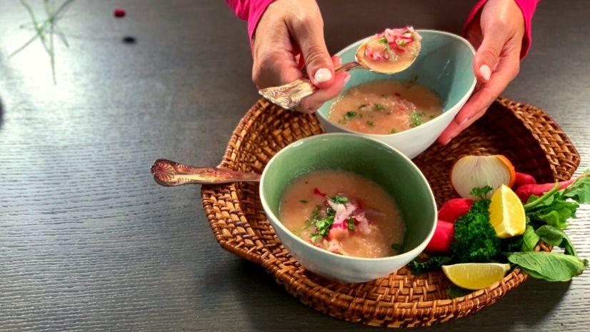 Rezept Radieschencremesuppe - Radieschen - Suppe - TCM Ernährung - 5 Elemente - Anna Reschreiter - annatsu